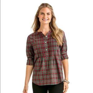 Vineyard Vines Holiday Plaid Popover Flannel Shirt
